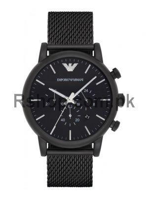 Emporio Armani AR1968 Black IP Mesh Chronograph Watch AR1968  (Same as Original)