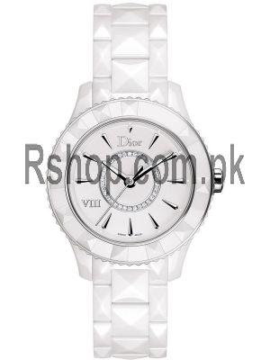 Dior VIII Diamond White Ceramic Ladies Watch Price in Pakistan