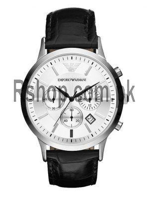 Emporio Armani Men's AR2432 Black Leather Watch AR2432  (Same as Original)