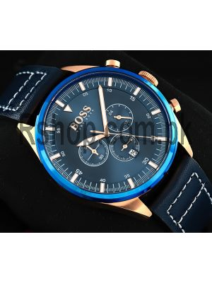 Hugo Boss Champion Blue Dial Chronograph Watch Price in Pakistan