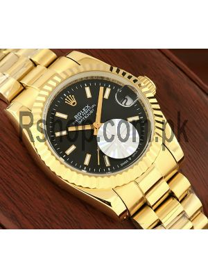 Rolex Lady Datejust Gold Watch