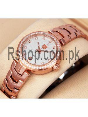 TAG Heuer Link Lady Rosegold-Diamond Bezel Watch Price in Pakistan
