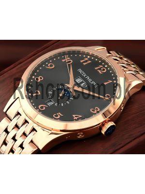 Patek Philippe Annual Calendar Rose Gold Watch Price in Pakistan